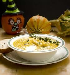 Halloween Pumpkin Soup (Hungry Peepor) Tags: pumpkin soup halloween carrot boiled blended