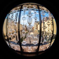 Chazen (K.G.Hawes) Tags: chazenmuseumofart art fisheye museum vignette vignetted circle circular orb distortion distorted sculpture glass window sky madison wisconsin
