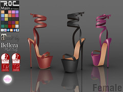 ::ROC:: Lace Up Platform (ROC FASHION) Tags: roc roscee sl secondlife footwear shoes heel slink maitreya tmp belleza platform lace up