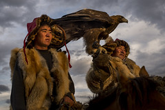 Eagle Hunters (www.davidbaxendale.com) Tags: golden eagle mongolia altaimountains hunter hunters portrait wild discovery channel lonely planet
