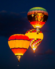 Dawn Patrol (tltichy) Tags: ascending ascension balloon ballooning balloons dawn festival fiesta floating flying glow glowing hotairballoons international newmexico night orange patrol red three yellow