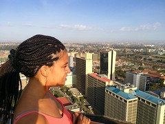 "View of Nairobi from the top of the KICC Kenyatta International Convention  Center.  Nairobi. Kenya. Jan 2016 #itravelanddance • <a style=""font-size:0.8em;"" href=""http://www.flickr.com/photos/147943715@N05/30142525636/"" target=""_blank"">View on Flickr</a>"