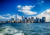 New York City skyline (` Toshio ') Tags: toshio nyc newyorkcity newyork manhattan city skyline bay hudsonriver eastriver boat oneworldtradecenter clouds usa america fujixe2 xe2