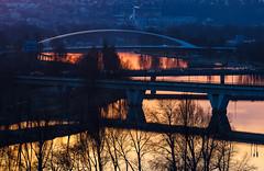 Oranov Vltava (Honzinus) Tags: vltava river eka praha prague city esko echy veer cz czech evening most twilight soumrak