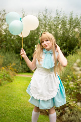 Kotori (AtelierRaza) Tags:  cosplay tree light green costume female outdoor anime manga people cloud hair coser video canon 50mm alsace cloudy strasbourg suit white pink yellow fluffy forest flowers beauty parc alice wonderland kotori love live school idol festival llsif minami