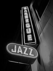 Blue Smoke and Jazz Standard Sign - Black & White Version; New York, New York (hogophotoNY) Tags: bluesmoke jazz standard jazzstandard ny nyc newyork usa hogo hogophoto manhattan big apple bigapple thebigapple