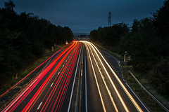 The Rush Hour (EricHarden) Tags: a90 road lighttrails car lights carlights light trails dark night fraffic painting motorway dundee scotland d7100 nikkor 18200mm