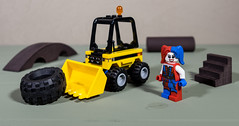 Harley says if you don't want it tagged, don't leave it sitting around (MuTant 99) Tags: home toys lego minifigures harleyquinn tractor pentaxk3