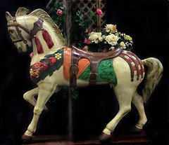 FURNITURE:  Life size carousel horse replica.
