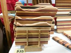 Oregon cutting boards, Bruce Kramer (marketkim) Tags: formen holidaymarket cooks giftguide soeug eugene oregon saturdaymarket festival artfair eugenesaturdaymarket artfestival