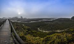 Niebla en El Rompido (Dancodan) Tags: nikon nikkor1024mmf3545gdxswmedifasphericalafs d7100 paisajes panoramica elrompido huelva andaluca amanecer niebla puente madera cielo marismas sol angular fb 500px