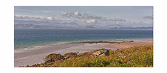 Walking on Sunshine.. (Harleynik Rides Again.) Tags: walkingonsunshine beach scotland highlands westcoast applecross cloudporn harleynikridesagain