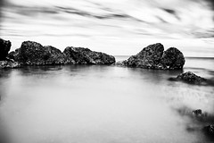 Circle of rocks (Mario Ottaviani Photography) Tags: sony sonyalpha italy italia paesaggio landscape travel adventure nature scenic exploration view vista breathtaking tranquil tranquility serene serenity calm longexposure smooth circle rocks reefs biancoenero blackwhite blackandwhite monocromatico monocromo monochrome seascape