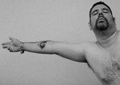 Tribute to Mapplethorpe (Alejandro Ortiz III) Tags: 400d allrightsreserved arm bracelet canon canoneosrebelxti eos lightroom mapplethorpe newyork newyorkcity portrait promaster175028 rebel robert robertmapplethorpe self selfportrait silver tattoo tributetomapplethorpe xti armpit axilla oxter underarm ©2009alexortiz â©2009alexortiz