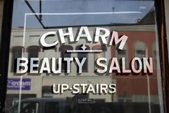 Charm Beauty Salon Up-Stairs (jschumacher) Tags: virginia petersburg petersburgvirginia lettering