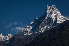 Machapuchare by Moonlight (Stewart Miller Photography) Tags: machapuchare nepal himalaya unclimbed moonlight