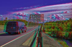 Trans-Canada Highway, Ontario 3-D / Anaglyph / Stereoscopy (Stereotron) Tags: north america canada province ontario transcanadahighway highway17 forest woods outback backcountry bridge steel lake river creek anaglyph anaglyph3d redcyan redgreen optimized anaglyphic anabuilder 3d 3dphoto 3dstereo 3rddimension spatial stereo stereo3d stereophoto stereophotography stereoscopic stereoscopy stereotron threedimensional stereoview stereophotomaker stereophotograph 3dpicture 3dglasses 3dimage twin canon eos 550d yongnuo radio transmitter remote control synchron in synch kitlens 1855mm tonemapping hdr hdri raw