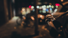 City Breath (Bokehschtig (ON/OFF)) Tags: cologne kln nrw bokeh dof depthoffield night nightshot nightphotography bubbles circlesofconfusion bicycle bell bicyclebell pov pointofview sony sonya7 sigmaart2414 sigma 24mm f14