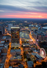 Atlanta Sunset (Jon Ariel) Tags: atlanta georgia sunset usa ga cnn center dome falcons downtown