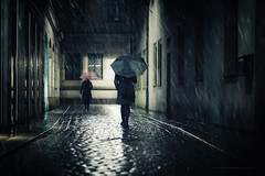 ... (Freddersen FF) Tags: 2016 availablelight dresden nadineviol nikkor85mm14g nikond4 portrait rain raining day night saxony germany woman women lights fredjust freddersenfffotografie saxon dark darkness outdoor black