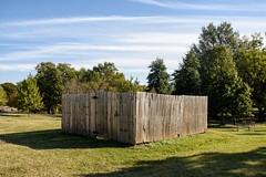 Progress #2 (brev99) Tags: sigma1770os d7100 colorefex fence tulsagardencenter trees