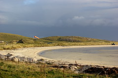 Aircraft apron (Graham`s pics) Tags: barra barraairport outerhebrides scotland beach traighmhrbay barraeoligarryairport apron parking twinotter scenic scenery landscape windsock airfield hill hills terrain