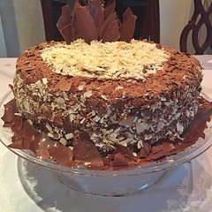 Birthday cake - Mousse of nutella and cream brigadeiro (Ligia M Lo Re) Tags: cake culinria doces sweet patisserie culinary culinaryphotography delicious desert birthday bolodechocolate brigadeiro nutella chocolatcake birthdaycake food cakes
