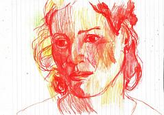 EXPRESIN (GARGABLE) Tags: dibujos drawings sketch angelbeltrn apuntes lpicesdecolores experimentacin gargable quijote
