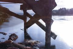 Calm (Per Ingmar) Tags: winter cold sweden landscape photography canon canon700d color blue bridge rocks water salt saltwater