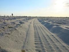 tracks in the sand (rickety schorr) Tags: beach longisland jonesbeach newyorkstateparks longislandbeaches beaches shore shoreline coast coastline easternseaboard newyorkbeaches newyorkstatebeaches nassaucounty 516 popularbeaches rickyschorr look4light rickyshore rikshaw