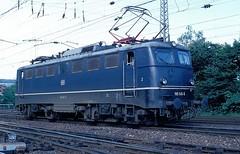 110 145  Heilbronn  14.06.85 (w. + h. brutzer) Tags: analog train germany deutschland nikon 110 eisenbahn railway zug trains db locomotive heilbronn lokomotive e10 elok eisenbahnen eloks webru