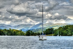 yacht on windermere, cumbria, uk (haywardk49) Tags: uk trees england sky people lake mountains water beautiful clouds forest boat woods sailing northwest yacht lakes lakedistrict peaceful calm hills cumbria distance picturesque tranquil windermere waterscape
