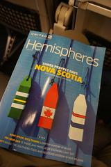 In-flight magazine (Let Ideas Compete) Tags: magazine novascotia wanderlust unitedairlines hemispheres threeperfectdays