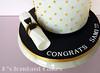 Graduation Cake (K's fondant Cakes) Tags: white black cake gold graduation pearls fondant λευκό μαύρο χρυσό τούρτα ζαχαρόπαστα πέρλεσ αποφοίτησησ