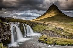 A Mountain And A Waterfall (Kristinn R.) Tags: sky mountain water grass clouds waterfall iceland moss nikon kirkjufell snæfellsnes nikonphotography kirkjufellsfoss kristinnr d800e snæfellsnesþjóðgarður