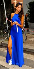 Sara Nicole Rossetto (Paulix Black) Tags: street city blue urban woman sexy girl beauty fashion cool glamour italia dress legs milano moda style class sneakers glam chic gown elegant fashionista luxury settimana stylish classy elegance fashionable lusso streetstyle