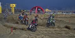 Motocross Race (SalvaMarc) Tags: people beach race sand pentax competition tamron motocross longtimeago k50 80210mm pentaxiani