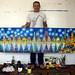 מאיר טיאנו טינו מבקר בסטודיו של הצייר רפי פרץ ציורים נאיביים ישראלים ליל כוכבים בעקבות ואך גוך