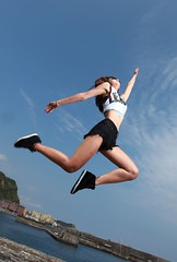 DPP_0020-1 (c0466art) Tags: blue light sea portrait sky beautiful beauty face female canon pose photography coach eyes energy asia pretty action outdoor body good taiwan health figure attractive motor charming elegant activity gym society keelung 1dx c0466art