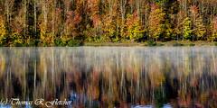 Fog on Lake (travelphotographer2003) Tags: morning autumn summer mist fall misty fog solitude foggy tranquility panoramic westvirginia serenity freshness refreshment appalachianmountains purity tranquilscene cowen outdoorrecreation alleghenymountains beautyinnature webstercounty bigditchlake