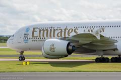 Emirates Airbus A380-861 A6-EOJ (Mark_Aviation) Tags: park airplane manchester airport aircraft aviation aeroplane emirates international airbus visitor runway avp aerospace rvp ringway 2015 a380861 a6eoj