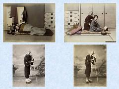 Catalogue No. B 1021-B 1024 (noel43) Tags: sleeping flower japan photography japanese photo basket blind ikebana ama massage acrobat wrestler priest yokohama suzuki shinto seller meiji chado shinichi shashin shampooer