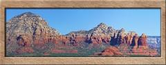 Sedona Peaks (Sugardxn) Tags: red arizona panorama mountains photoshop canon sedona az sugarloaf redrock thundermountain coffeepotrock picswithframes canoneos7d canon7d sugardxn garypentin