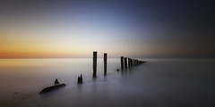 Minnis Bay (richard carter...) Tags: longexposure sunset seascape kent groyne 1635 minnisbay canoneos5dmk2