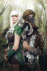Fantasy Cosplay (Tomas.Kral) Tags: girls portrait sexy art female digital forest painting studio diy costume geek czech cosplay elf fantasy orc matte strobist