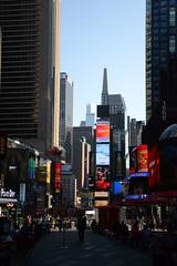 Times Square || Manhattan, New York (valentinaventimiglia) Tags: street newyorkcity travel summer usa sun newyork travelling colors america sunrise buildings amazing nikon unitedstates manhattan great broadway traveller adventure timessquare nikkor skyscaper sunnyday trasparence nikonitalia