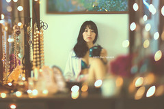 If you are never alone, you cannot know yourself. -Paulo Coelho (Yuri Figuenick) Tags: portrait woman selfportrait lensbaby myself asian japanese lights mirror focus alone bokeh lingerie portraiture dresser myroom selfie jewery tiltshifted canoneos5dmarkiii