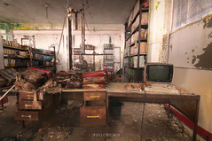 Secretary's office (Lo.Re.79) Tags: urban italy abandoned industry computer office factory decay ibm forgotten secretary exploration urbex