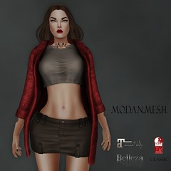 .M.O.D.A.N..M.E.S.H.  Hira Leather Jacket  20 Different Textures (thenamelessmodan - M.O.D.A.N..M.E.S.H. - gojo crea) Tags: life new people beach shop female shopping hair sweater outfit clothing shoes tank dress pants mesh boots photos body top coat avatar jewelry tools full event jacket combine short second heel trend perm creator belleza jumpsuit pant tmp creations accessory the modan maitreya slink secodlife fullperm modanmesh pixra