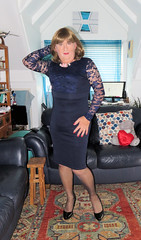 Blue Dress (Trixy Deans) Tags: crossdresser cd cute crossdressing crossdress classic classy cocktaildress corset xdresser sexy sexytransvestite sexyheels sexylegs x sexyblonde tgirl tv transvestite transgendered transsexual tranny trixydeans tgirls transvesite trixy trans tg shemale shemales dress